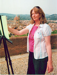 Therese McAlliste at Work in Florence